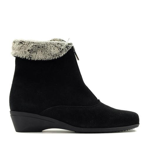 La Canadienne Evitta Black side view - Hanig's Footwear