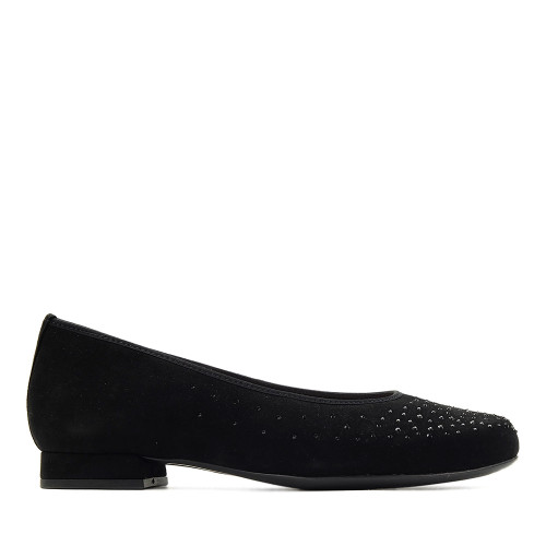 Hassia 300903 Black Suede side view