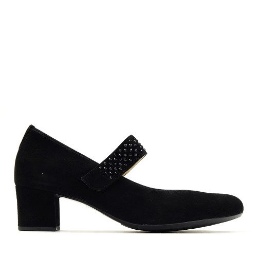 Hassia 304952 Black Suede side view