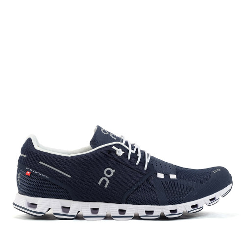 ON Running Cloud Navy/White side view