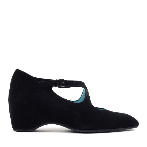 Thierry Rabotin Maderia A711 Black Suede side view