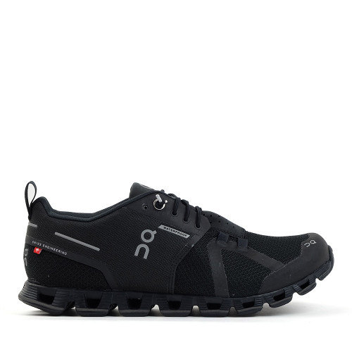 ON running Cloud Womens WP Black side view