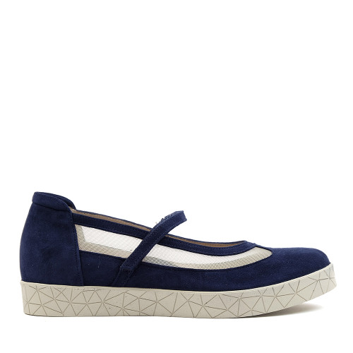 Beautifeel Sher Navy Blue side view — Hanig's Footwear