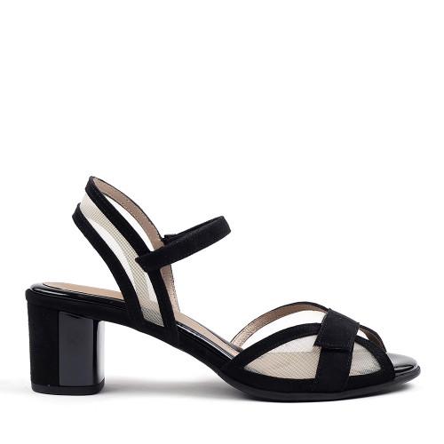 Beautifeel Sunny Black Suede side view  — Hanig's Footwear