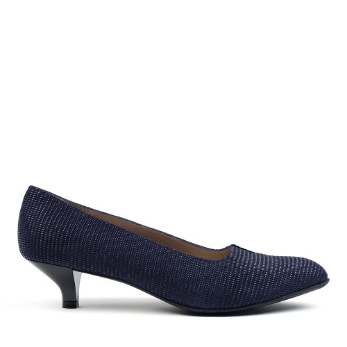 Beautifeel Mystique Navy Linear side view — Hanigs Footwear