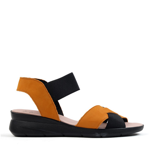 Hirica Hanae orange side view - Hanig's Footwear