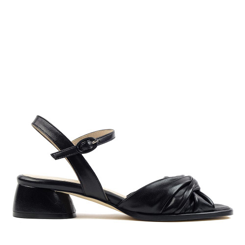 Lorenzo Masiero S192711 Black heel side view - Hanig's Footwear