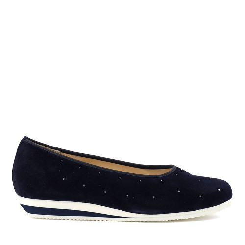 Hassia 301422-3200 Blue Suede side view — Hanig's Footwear
