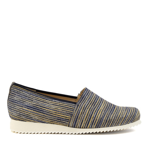 Hassia 301684-3200 Blue Print side view — Hanig's Footwear
