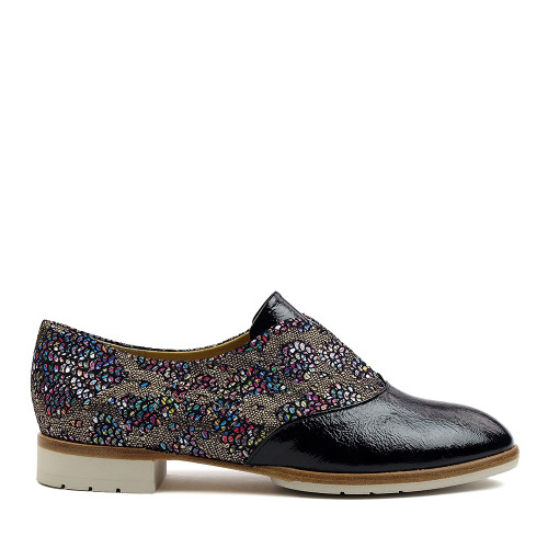 Brunate 11435 Fishgold Patent side view — Hanigs Footwear