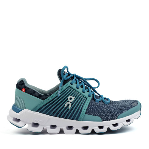ON Running Cloudswift Teal Storm side view — Hanigs Footwear