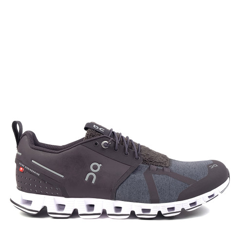 ON Running Cloud Terry Pebble Mens side view — Hanigs Footwear