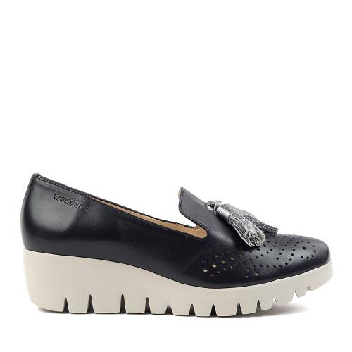 Wonders C-3366 Black side view — Hanig's Footwear