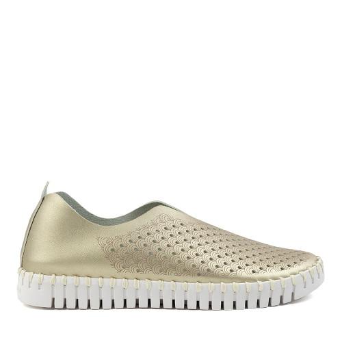 Ilse Jacobsen Tulip Platino side view — Hanig's Footwear