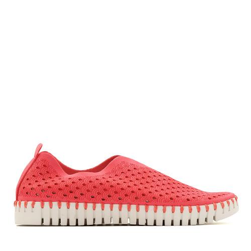Ilse Jacobsen Tulip raspberry side view Hanigs Footwear