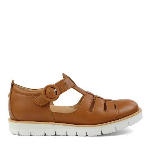 Samuel Hubbard Anytime Luggage Tan side view — Hanig's Footwear