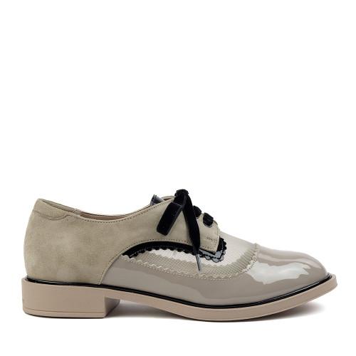 Beautifeel Flora Tahini Patent side view — Hanig's Footwear