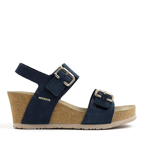 Mephisto Lissandra Navy side view - Hanigs Footwear