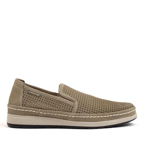 Mephisto Hadrian Perf Sand side view - Hanigs Footwear