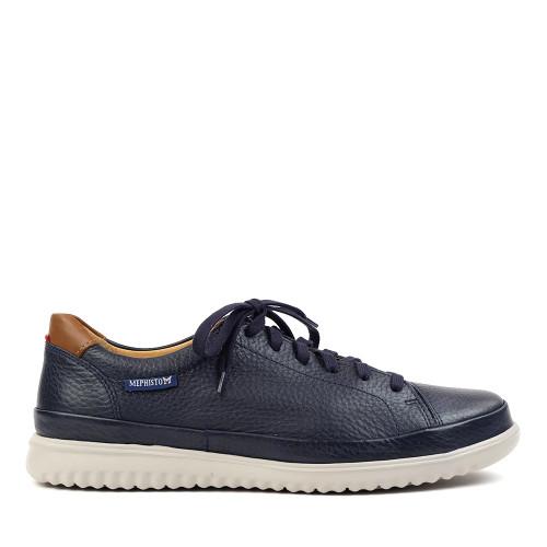 Mephisto Thomas Navy side view - Hanigs Footwear
