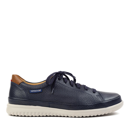 Mephisto Thomas Navy side view - Hanigs Footwear