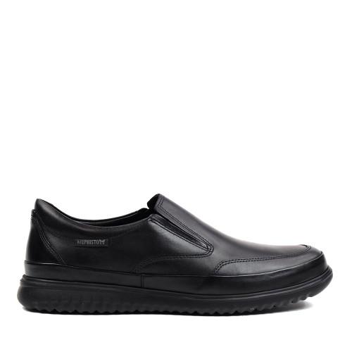 Mephisto Twain Black side view - Hanigs Footwear
