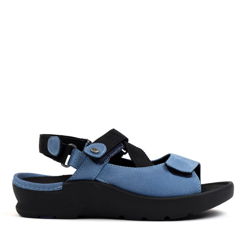 Wolky Lisse Baltic Blue side view — Hanig's Footwear
