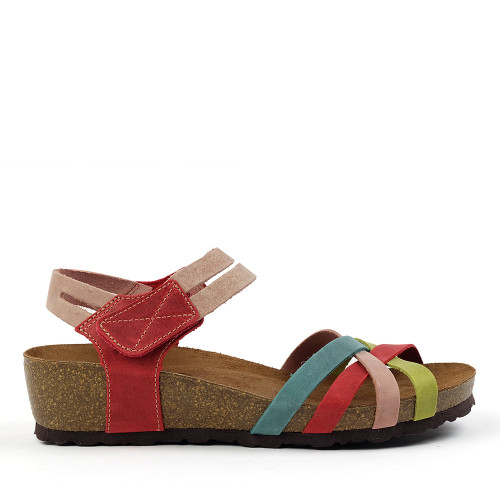 Sabatini 4008 Red Multi side view — Hanigs Footwear