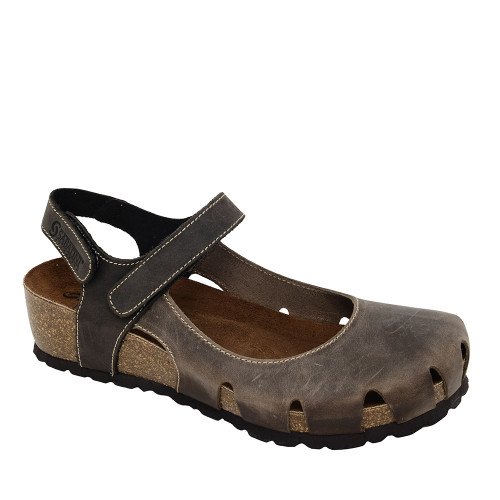 Sabatini 4009 Brown Sandal angle view — Hanig's Footwear