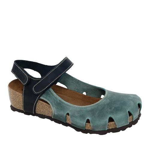 Sabatini 4009 Jeans Sandal angle view — Hanig's Footwear
