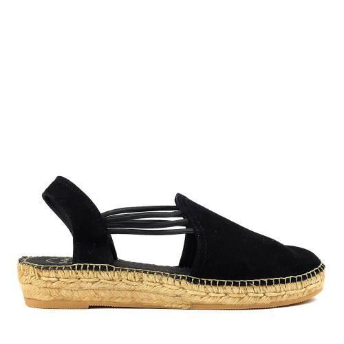 Toni Pons Nuria Espadrille Black side view — Hanig's Footwear