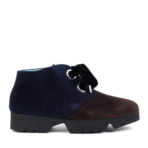 Thierry Rabotin Terzia 2290H Navy Brown side view - Hanig's Footwear