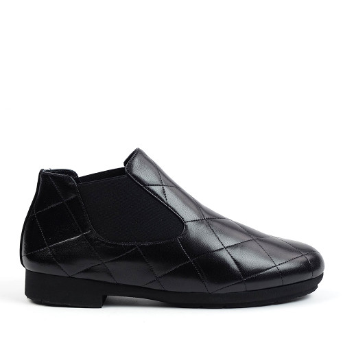 Thierry Rabotin Gezana 2283 Black Nappa side view - Hanig's Footwear
