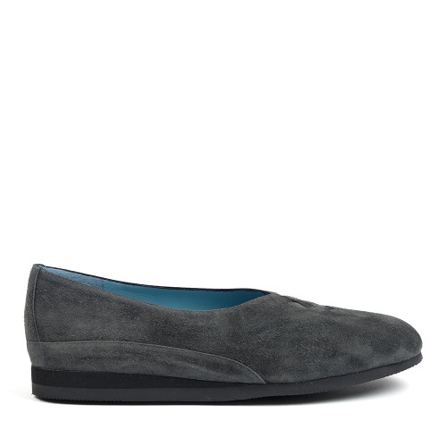Thierry Rabotin Grace 7410S99 Charcoal Suede side view - Hanig's Footwear