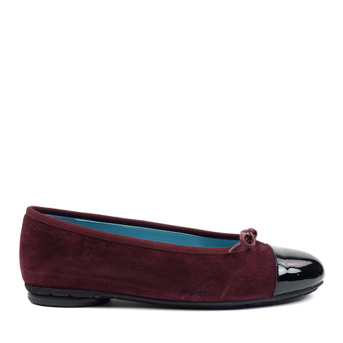 Thierry Rabotin Grayson 2239 Burgundy Suede side view - Hanig's Footwear