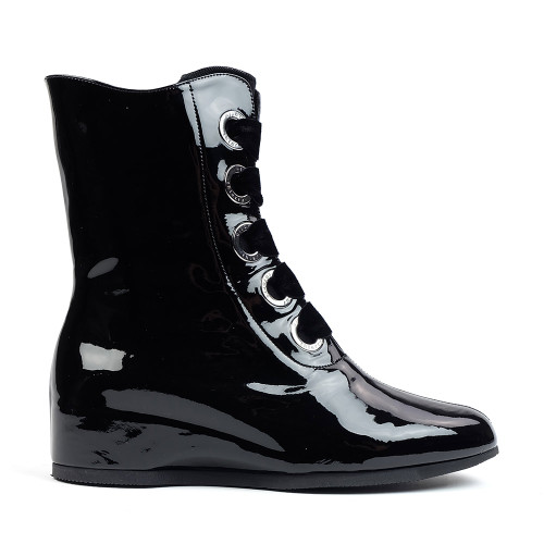 Thierry Rabotin Malberta 2306 Black Patent side view - Hanig's Footwear
