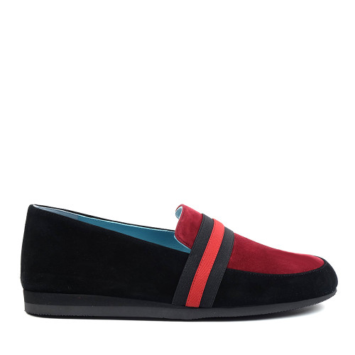 Thierry Rabotin Tempio 2294 Black red side view - Hanig's Footwear