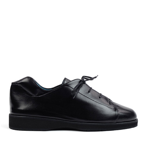 Thierry Rabotin Tulip 2292Q Black Nappa side view — Hanig's Footwear