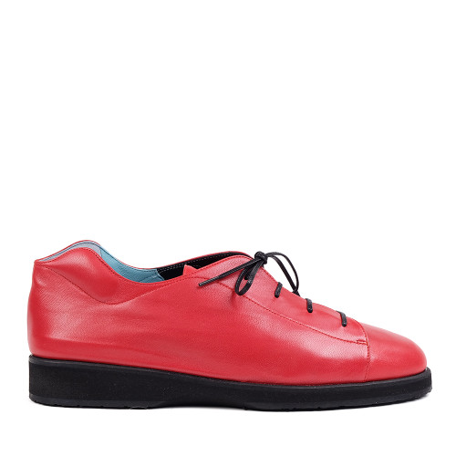 Thierry Rabotin Tulip 2292Q Red Taffetas side view — Hanig's Footwear