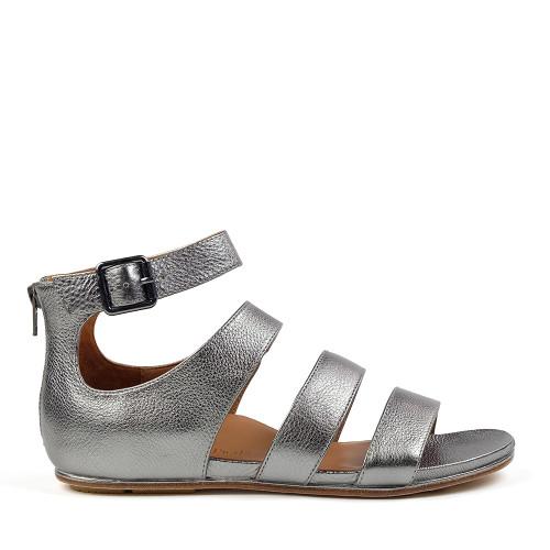 L'amour Des Pieds Doroteia sandal in Metal side at Hanig's Footwear