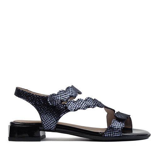Beautifeel Musa Indigo Tarta sandal side view - hanig's footwear