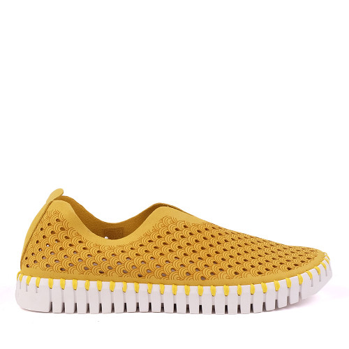 Ilse Jacobsen Tulip Golden Rod side view - Hanig's Footwear