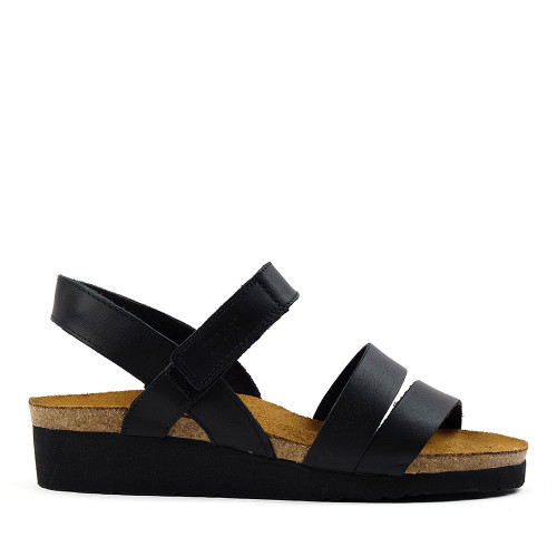 Naot Kayla Sandal in Black side view - Hanig's Footwear