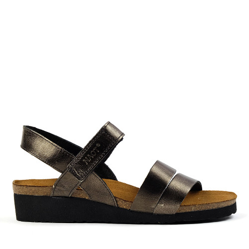 Naot Kayla Metal Leather sandal side view - Hanig's Footwear
