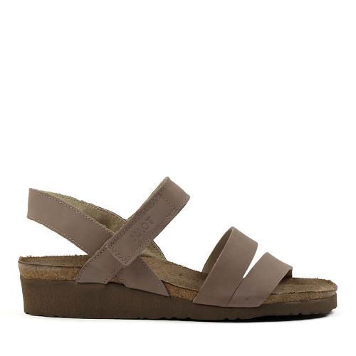 Naot Kayla Stone Nubuck side view - Hanig's Footwear