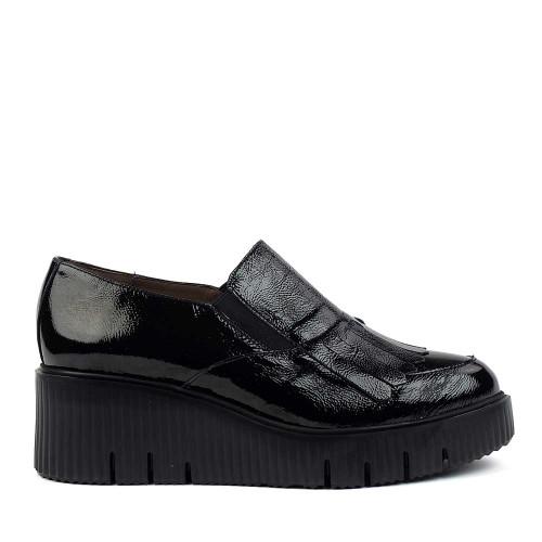 wonders E-6203 Black Patent side view - hanigs footwear