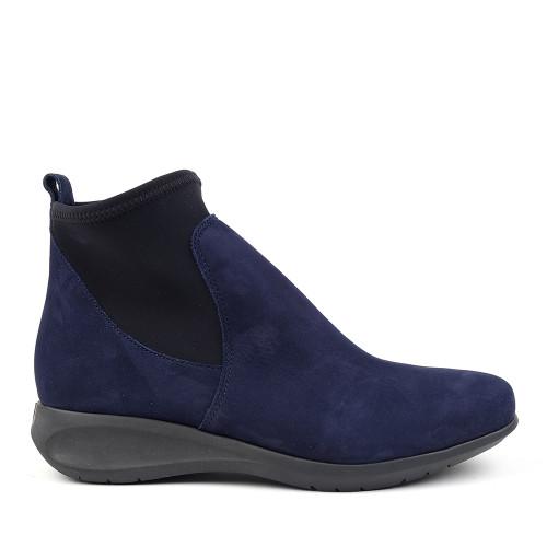 Hirica Sacha marine side view - Hanig's Footwear