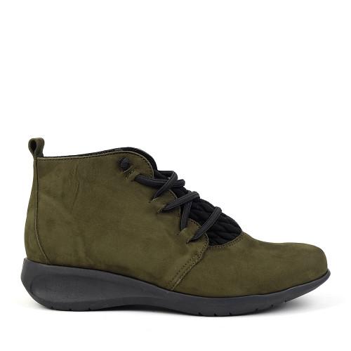Hirica Sidonie kaki side view - Hanig's Footwear