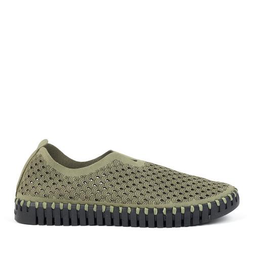 Ilse Jacobsen Tulip 3575 laurel green side view - Hanig's Footwear