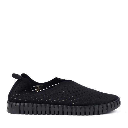 Ilse Jacobsen Tulip 3575 black side view - Hanig's Footwear